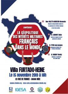 Conférence | La géopolitique des intérêts militaires français dans le monde