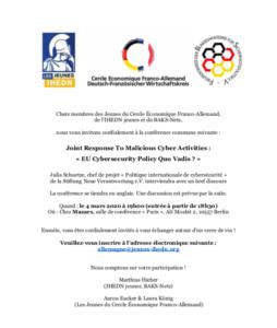2020-02-11 Invitation FRA - BAKS-Netz DFWK Jeunes IHEDN Event Cybersecurity